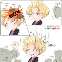 How actually Suga's hair style made! by Hyemi1230