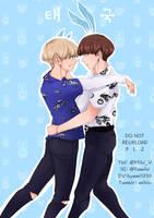 Cat and Rabitt Boy couple , VKook by Hyemi1230