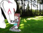 Rin x Sesshomaru - Hug by Sasza-Ola
