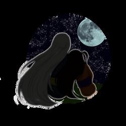 Night date (Rin/Sesshomaru) - sticker