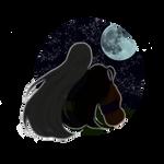 Night date (Rin/Sesshomaru) - sticker by Sasza-Ola