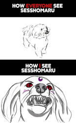 Sesshomaru true form - everyone vs me