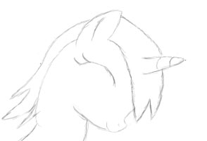 Littlepip happy (sketch) by Pony2Vector