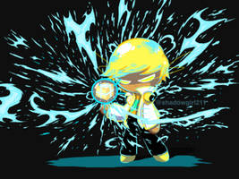 Electrifying lemon cookie - pixel art by shadowgirl211