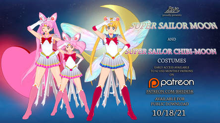 Super Sailor Moon/Chibi-Moon Costumes - Koikatsu