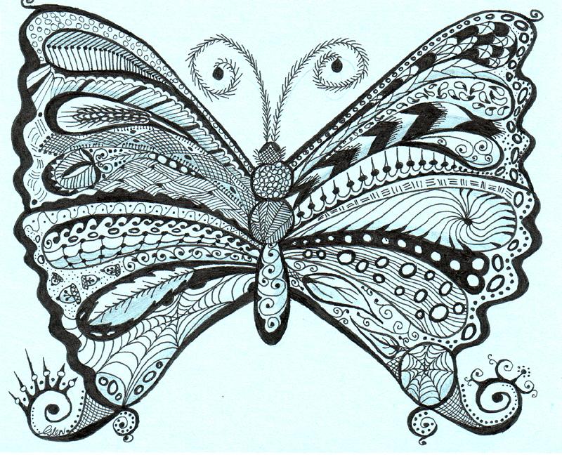 Zentangle Butterfly by LadyeggZentangles Butterfly