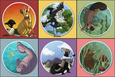 Cartoon Zoo by kobbie3