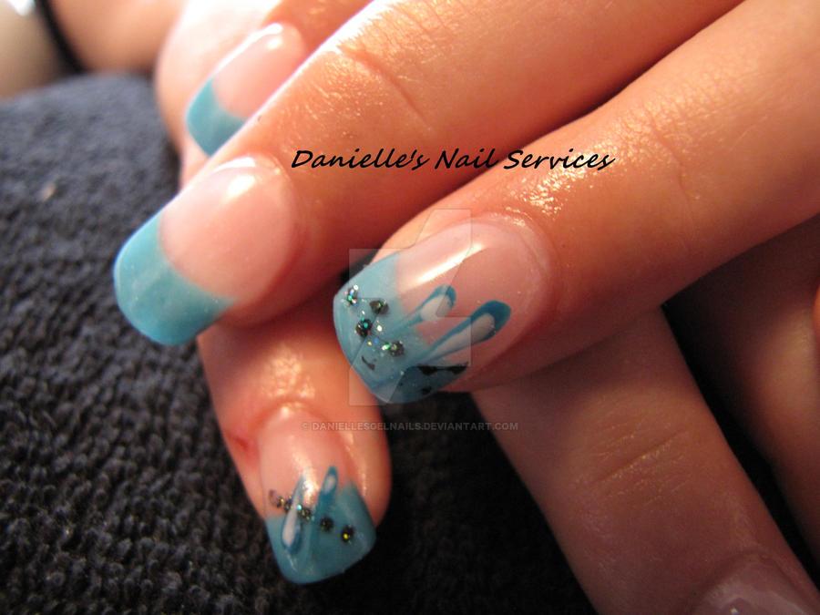 Nail Art - Light Blue Tips by DaniellesGelNails on DeviantArt