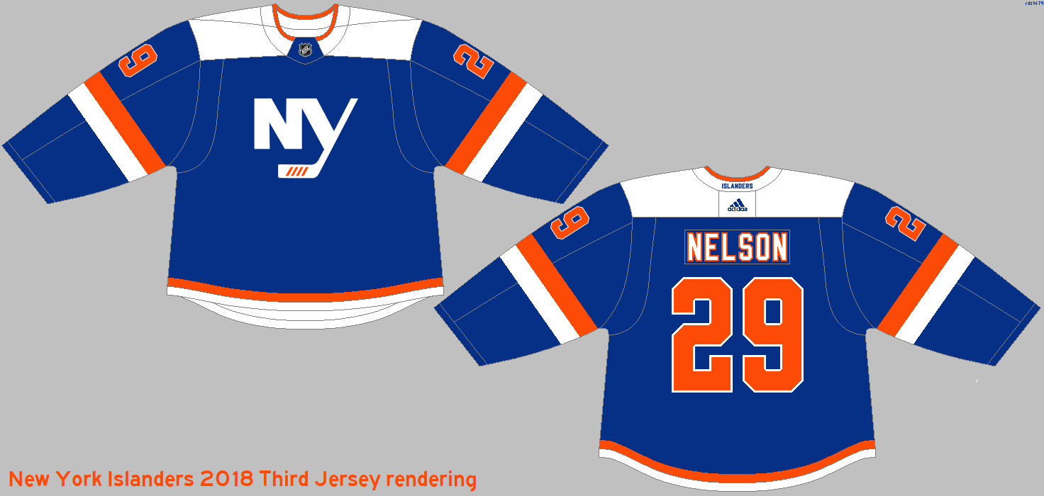 huge discount 15a20 4fcf4 New York Islanders 2018-19 Third Jersey rendering by rds9674 ...