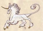 Heraldic Unicorn ACEO