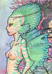 Imogen Mermaid ACEO by thedancingemu