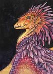 Rainbow Dragon ACEO