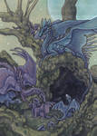 ACEO Keyword Commission Happy Dragon Family