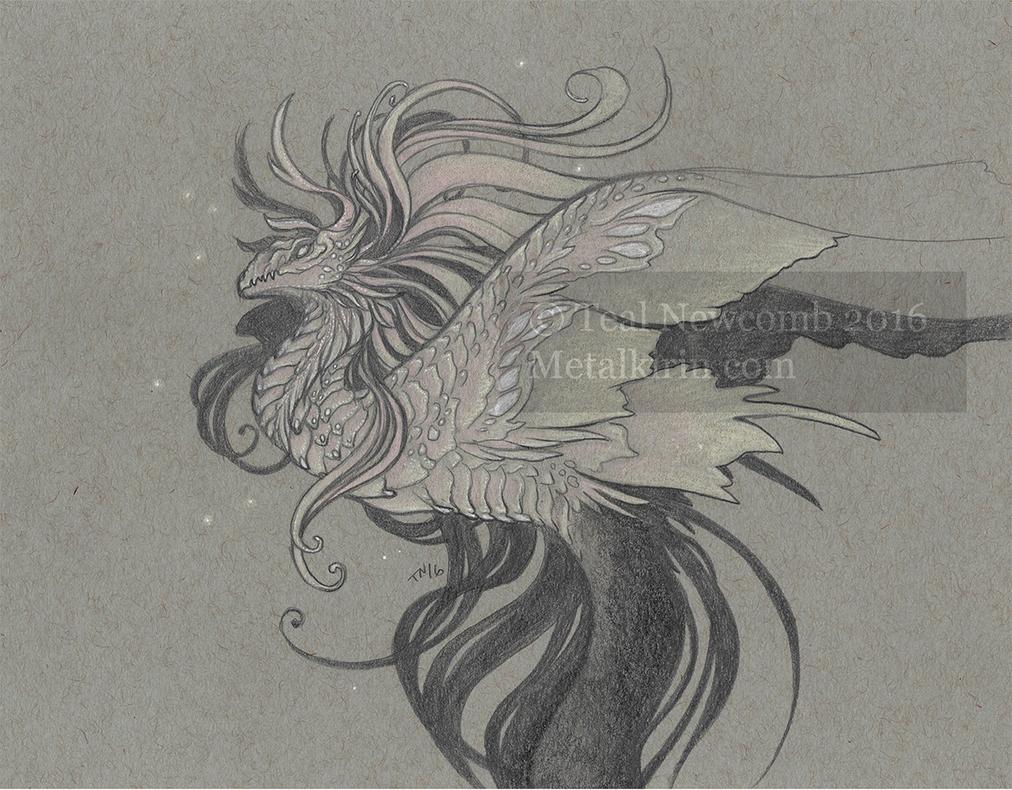 nouveau dragon peach by thedancingemu