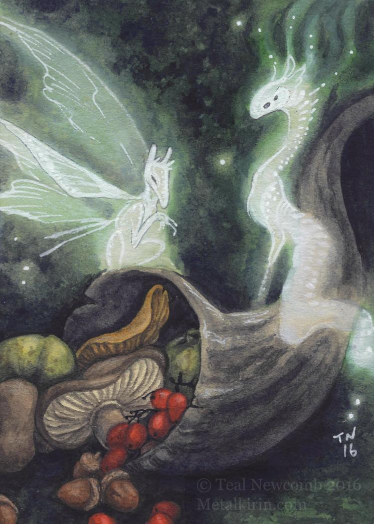ACEO Fairy cornucopia by thedancingemu