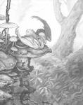 Keyword Commission - Fairy dragon with mushrooms