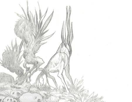Alien critter sketch