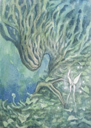 ACEO - Waking Dryad