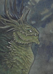 ACEO Mossy Dragon