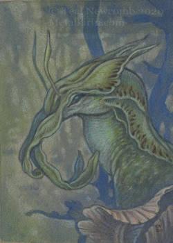 ACEO Slug Dragon