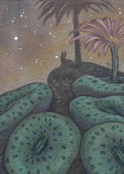 ACEO - Nami in the Conophytum Forest