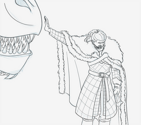 Jon Snow w/ Drogon by BeansEtc