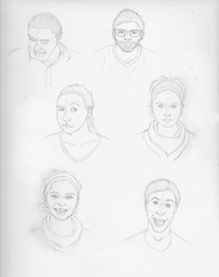 Face studies - expression by BeansEtc