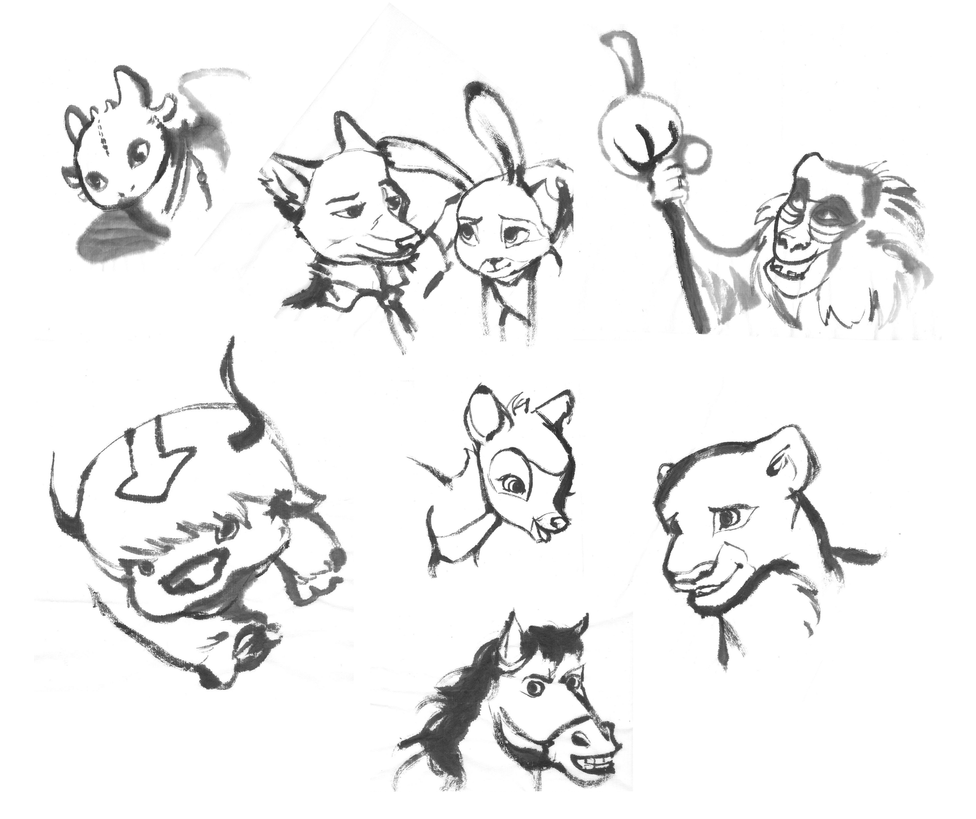 Animal characters by Ashenjay