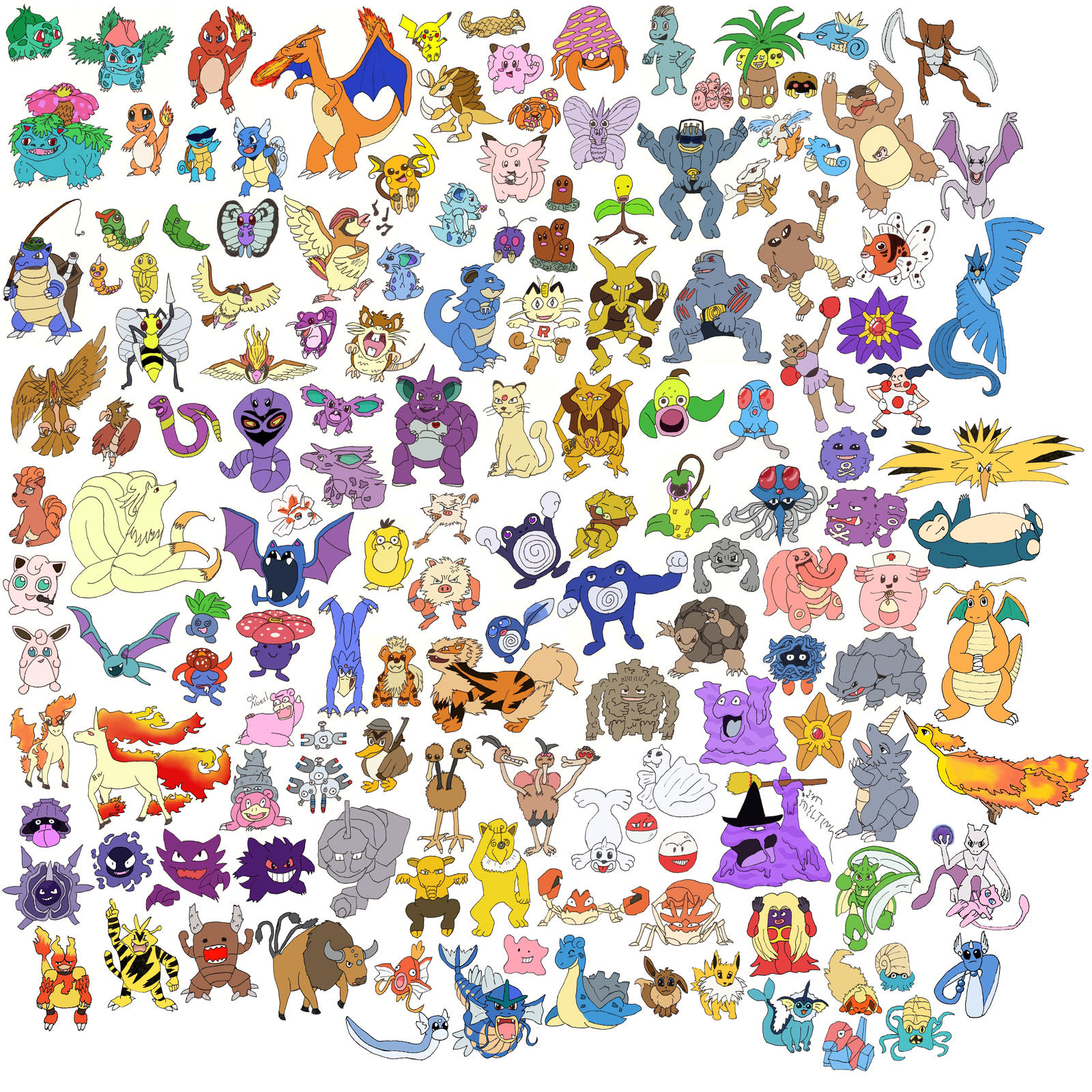 All 151 Original Pokemon by bilzarOriginal Pokemon Wallpaper