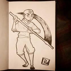Inktober Day 2: Avatar Aang