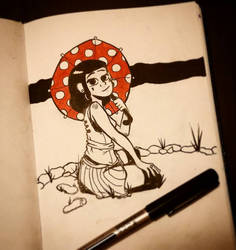 Inktober Day 5: Umbrella
