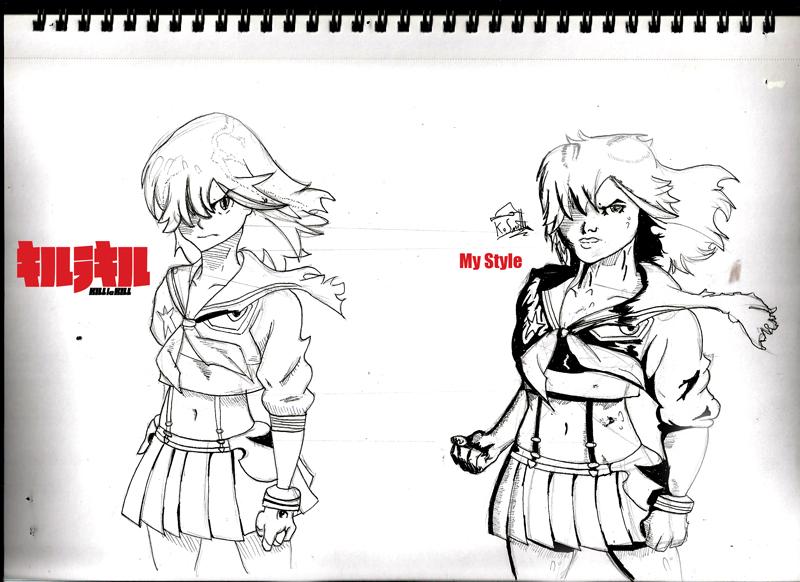 how to draw kill la kill style