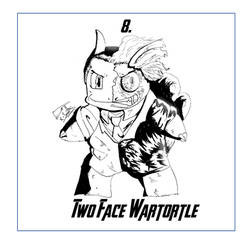 Two Face Wartortle #8 by KSmithArtwork