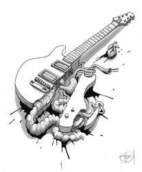 Pulped guitar