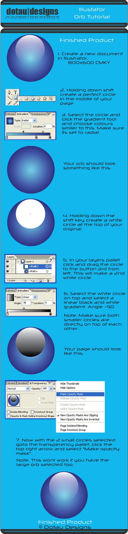 Adobe Illustrator Orb Tutorial by dotau