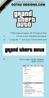Grand Theft Auto Logo Tut.
