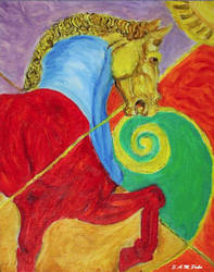 Tricolor Horse