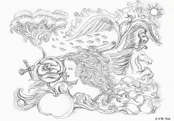 Ink Drawing by SamPako