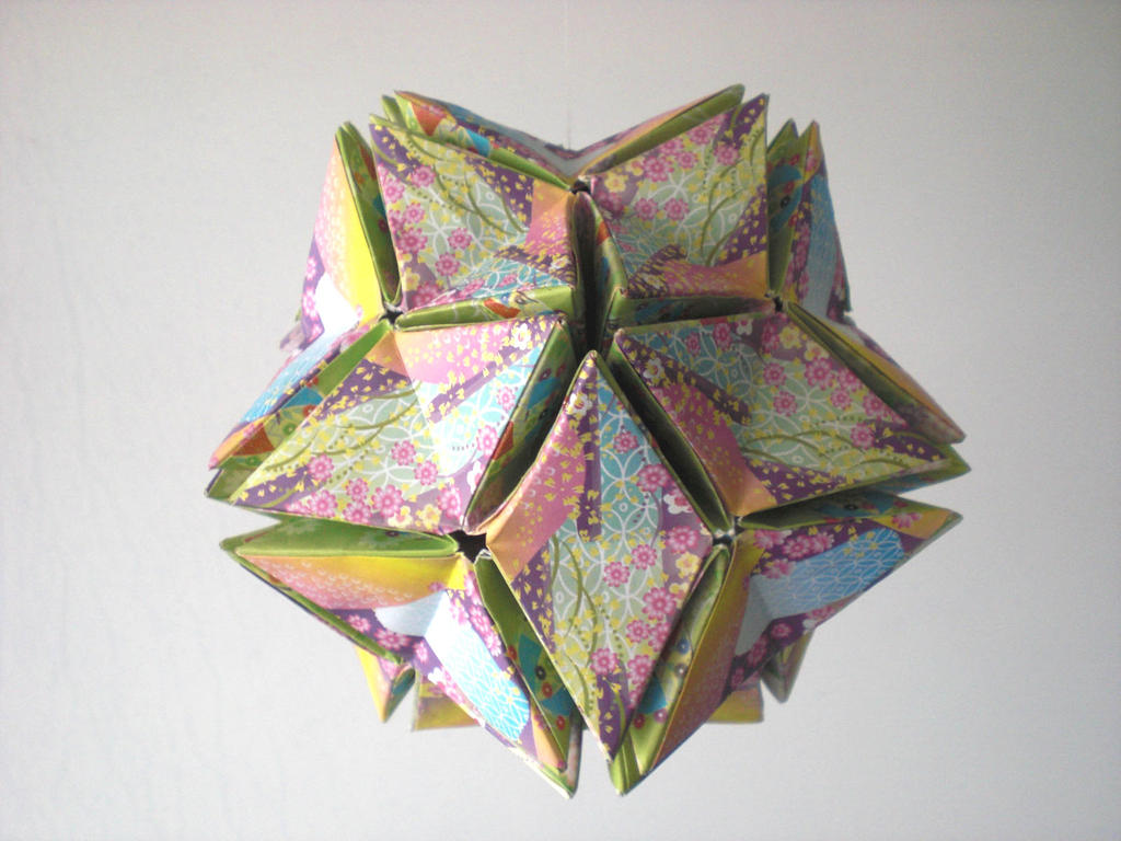 Origami Kusudama Revealed Flower Closed By Andy Chanwanttodraw