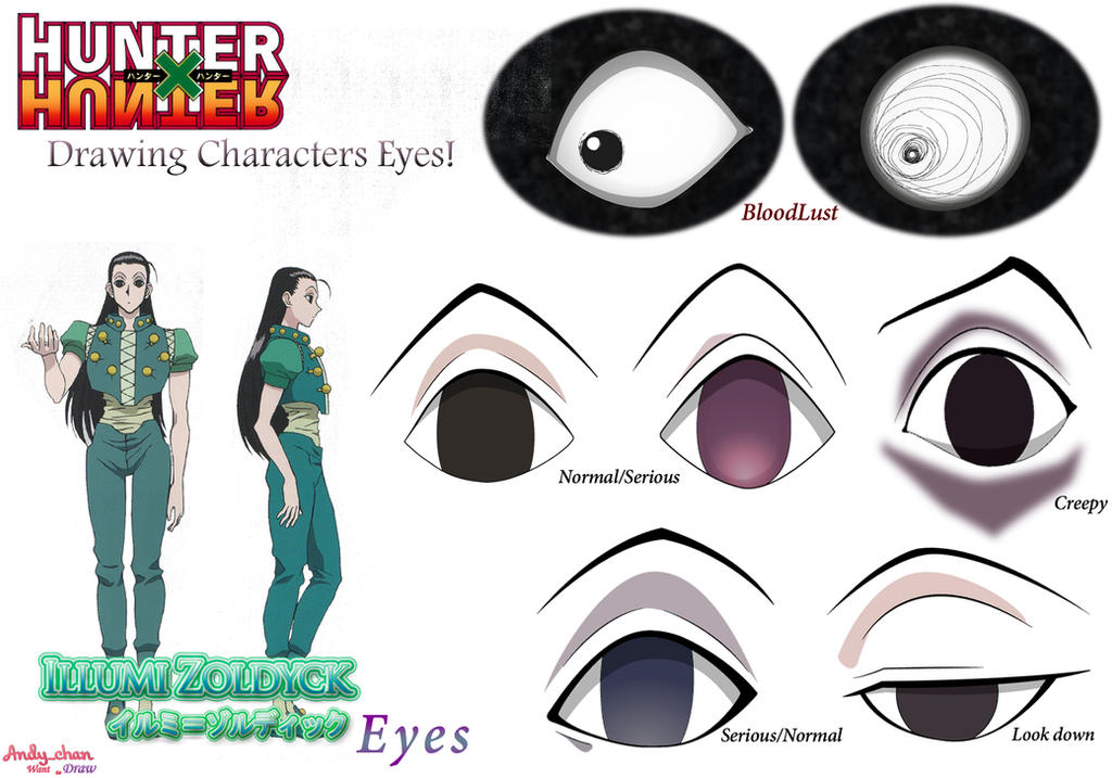Hunter X Hunter Illumi S Eyes By Andy Chanwanttodraw On