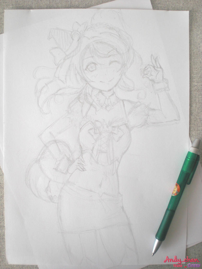 Eli Ayase - Love Live School Idol (Sketch #01) by Andy-chanWantToDraw