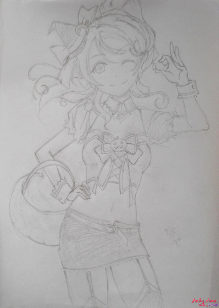 Eli Ayase - Love Live School Idol (Sketch #02) by Andy-chanWantToDraw