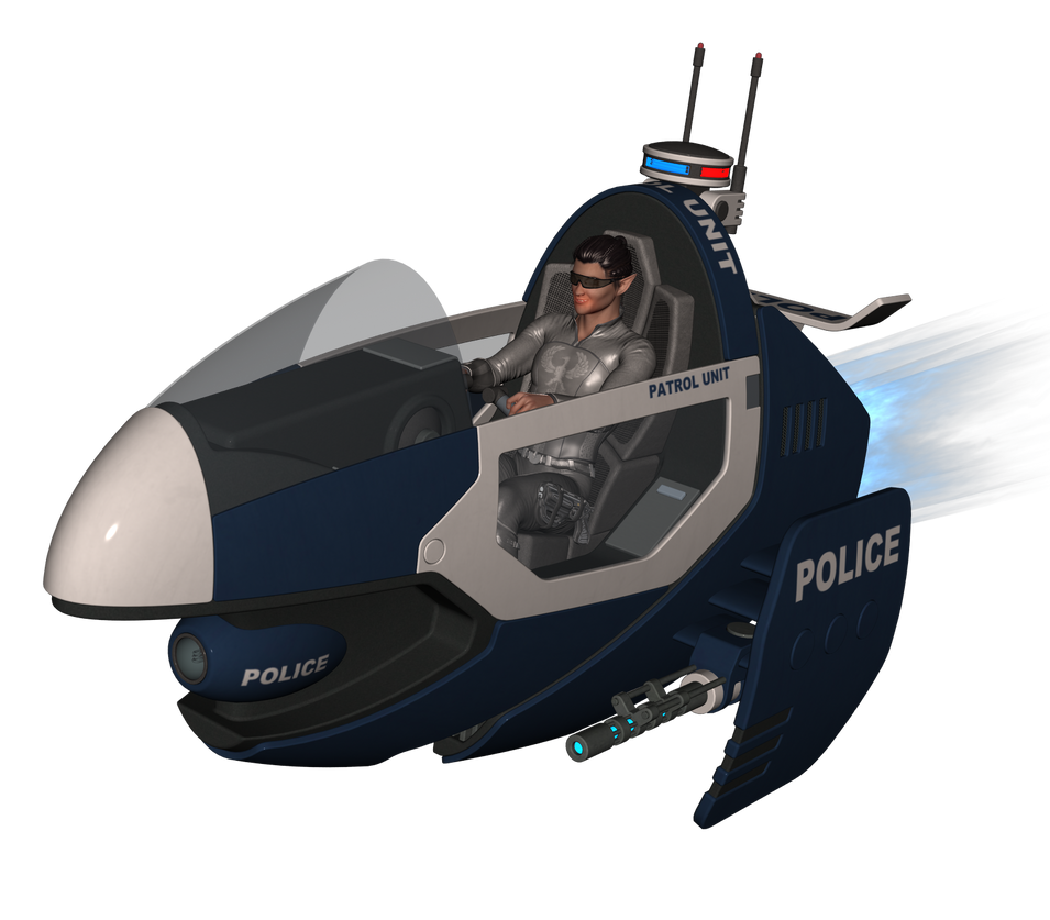 Parts Run: Cop on Patrol by anironbutterfly