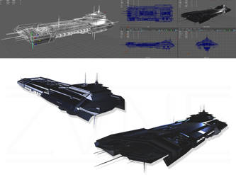 [EVE Online] - inspired Caldari Carrier Concept by ZVNE