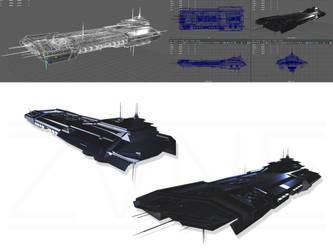 [EVE Online] - inspired Caldari Carrier Concept by ZVNE