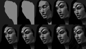 Wonder Woman Portrait Process