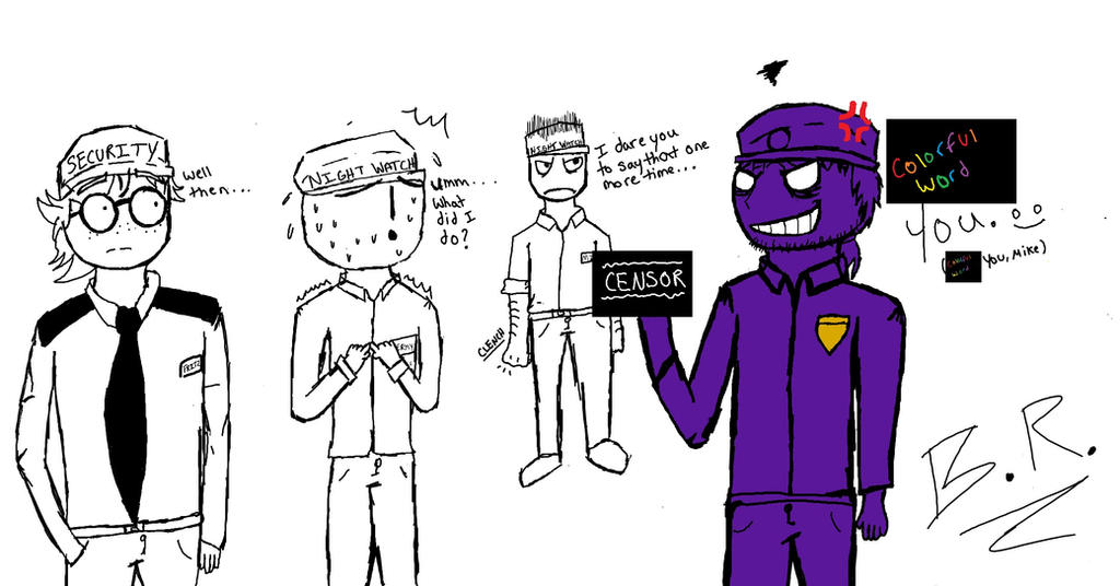 Fitz jeremy mike and purple guy by xxbloodyreaperxx on deviantart