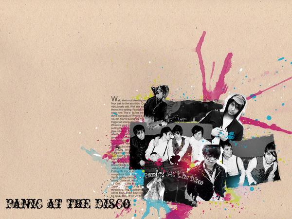 disco wallpaper. Wallpaper: Panic at the Disco