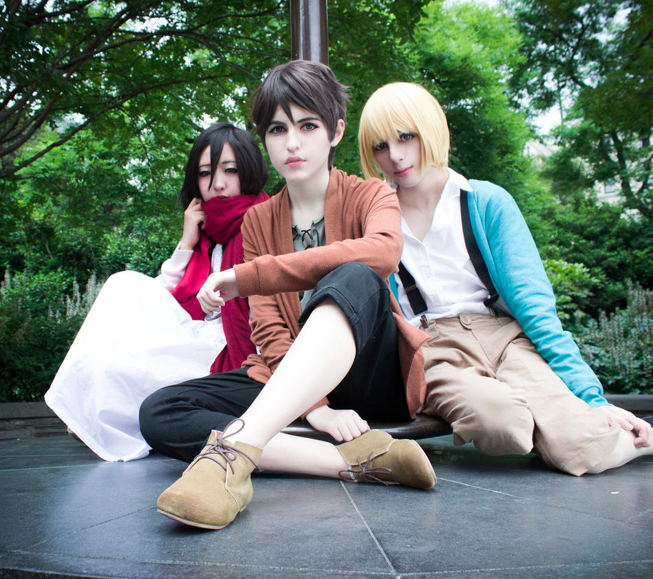Shiganshina Trio by KobitoCosplay
