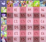 MLP BG Pony Shipping Grid (OPEN 33/36) by MichelleKyura